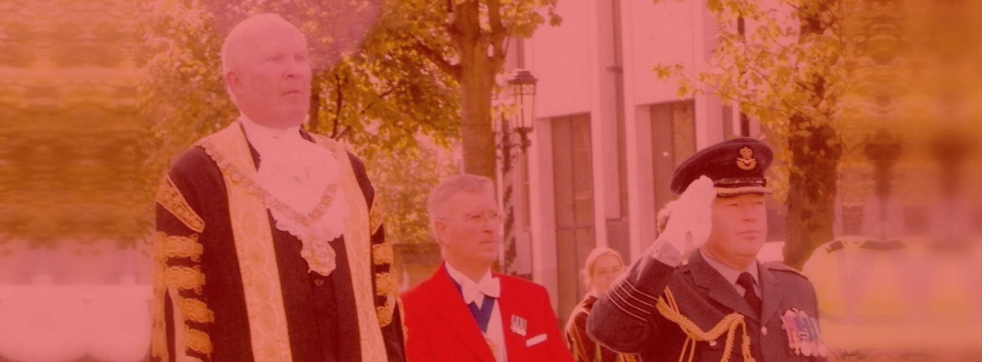 toastmaster with the lord mayor of Belfast