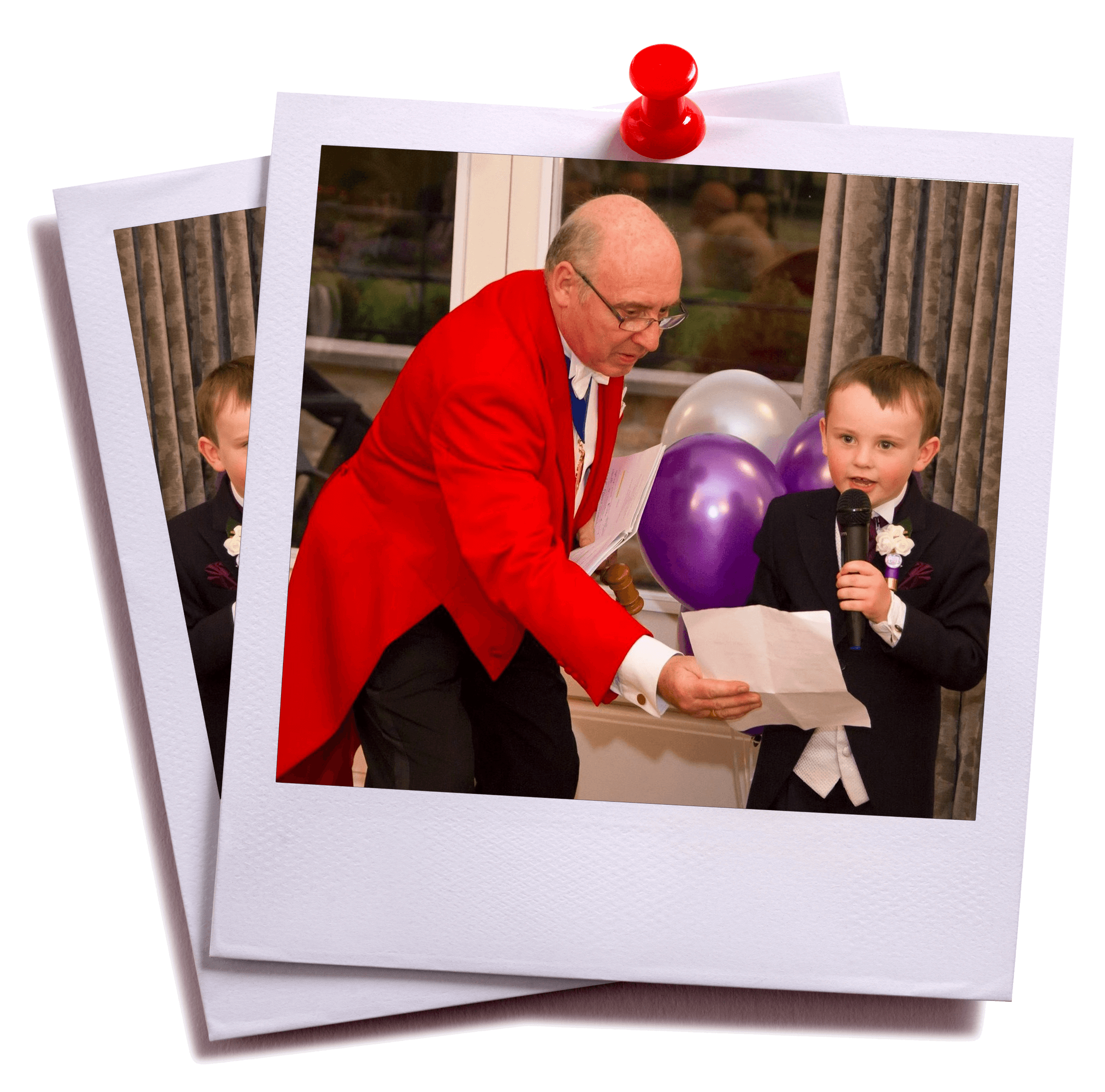 Toastmaster pageboy speech